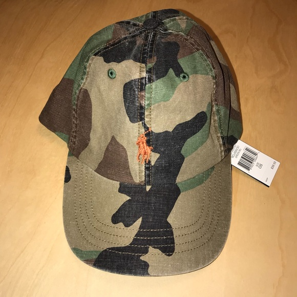 NEW Polo Ralph Lauren Men s OS Cotton Camo Hat a9296609f03